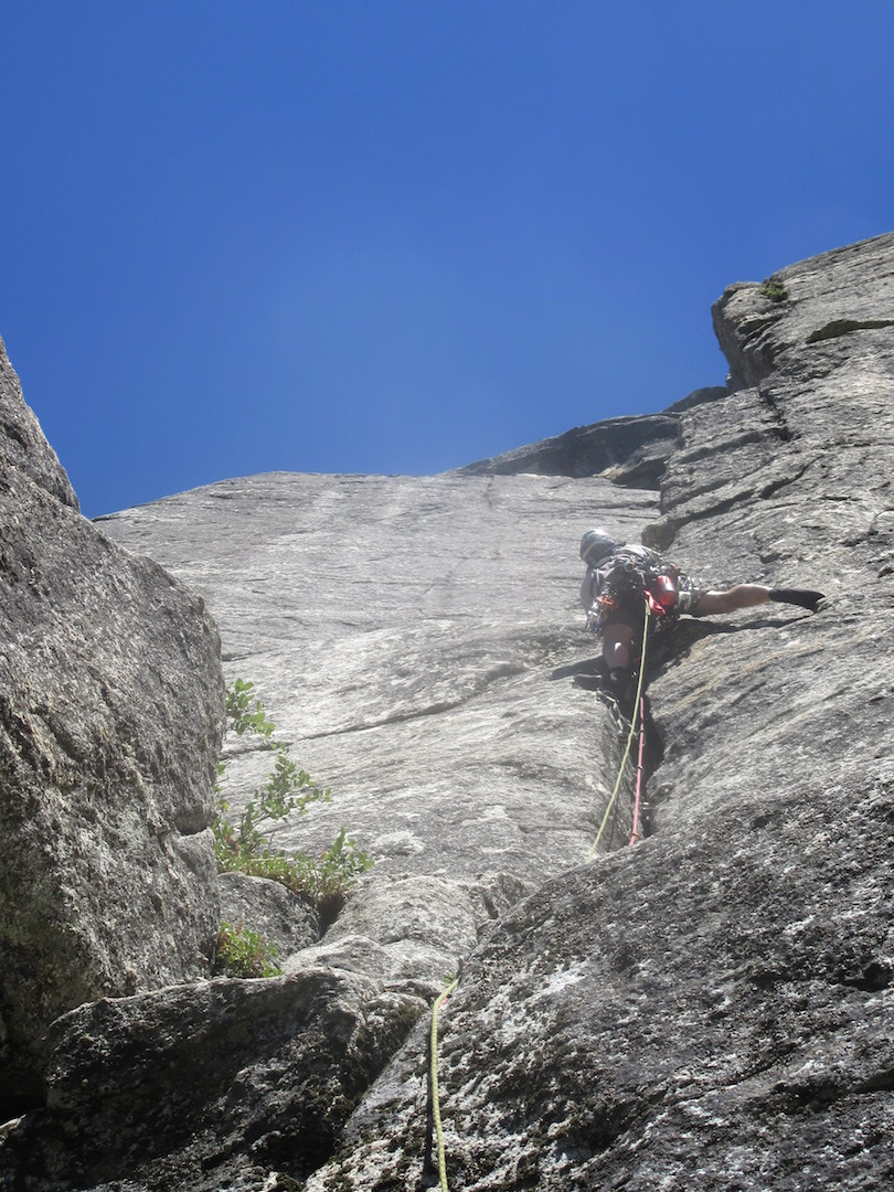 The short aid section of pitch 6.