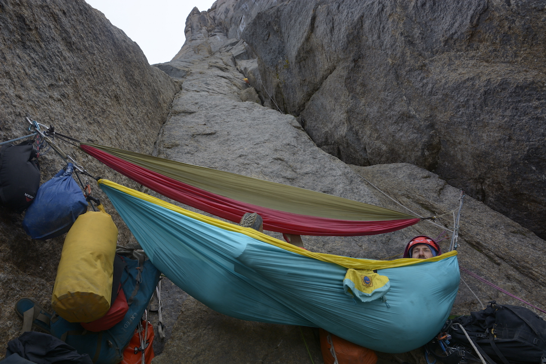 The second bivy. Packing portaledges wasn't an option in kayaks.