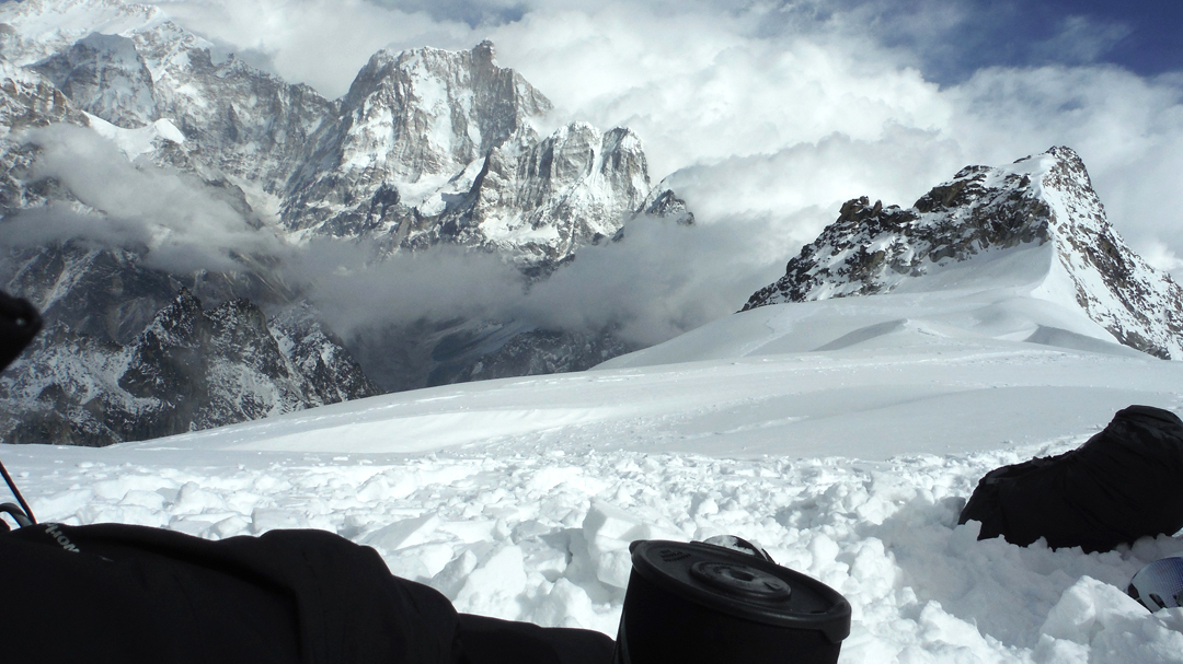 Jannu as seen from Camp 2 during an attempt on Sharphu I.