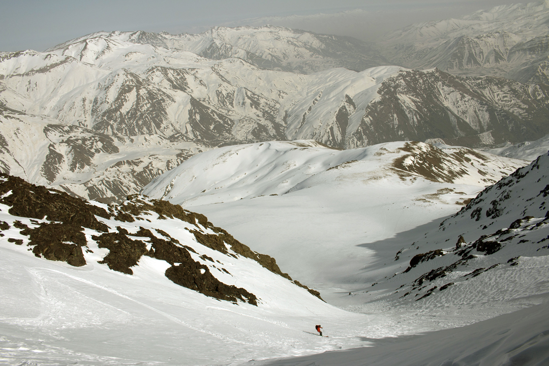 The north side of the Sakran Range, rising to nearly 3,500m, from Choman.