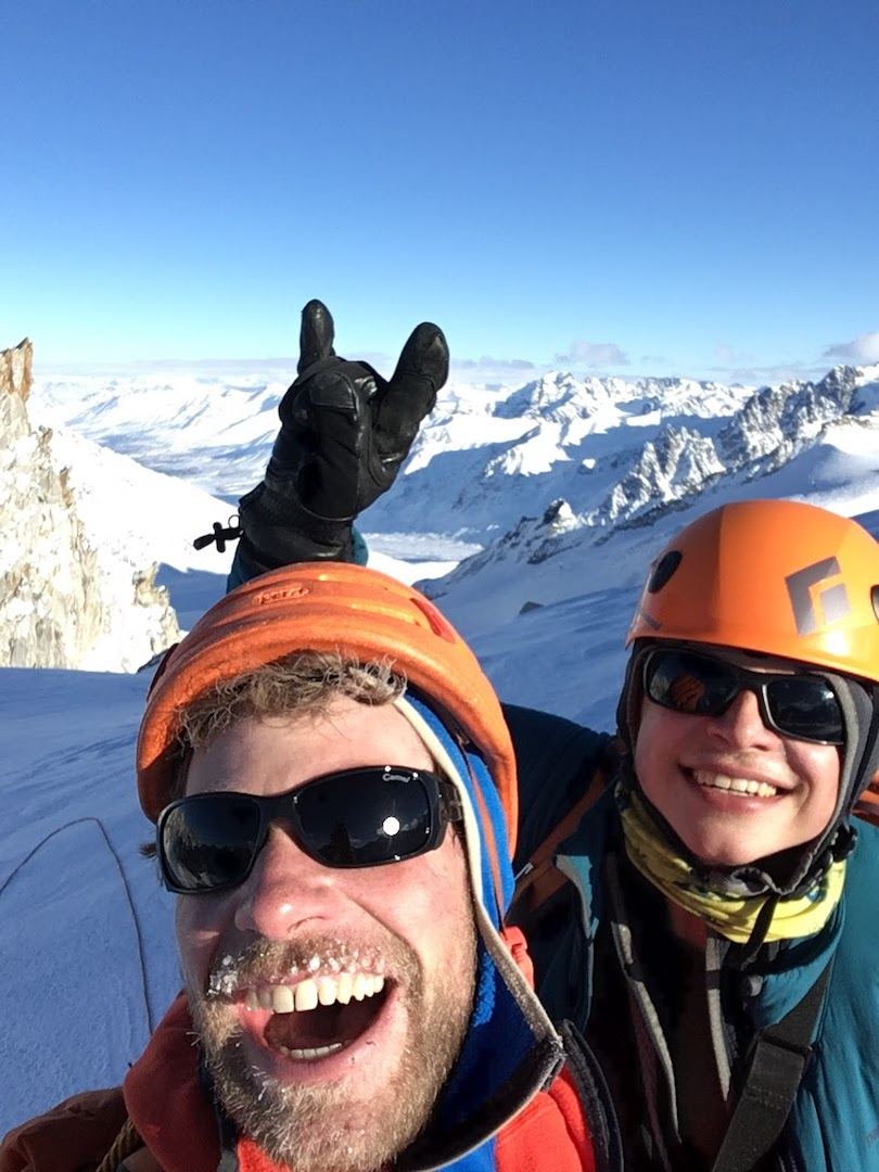 Gedas Simutis and Frieder Wittmann on the summit of the Prophet (Peak 6,905') after making the first known ascent of the mountain, just two days after leaving work in Zurich, Switzerland.