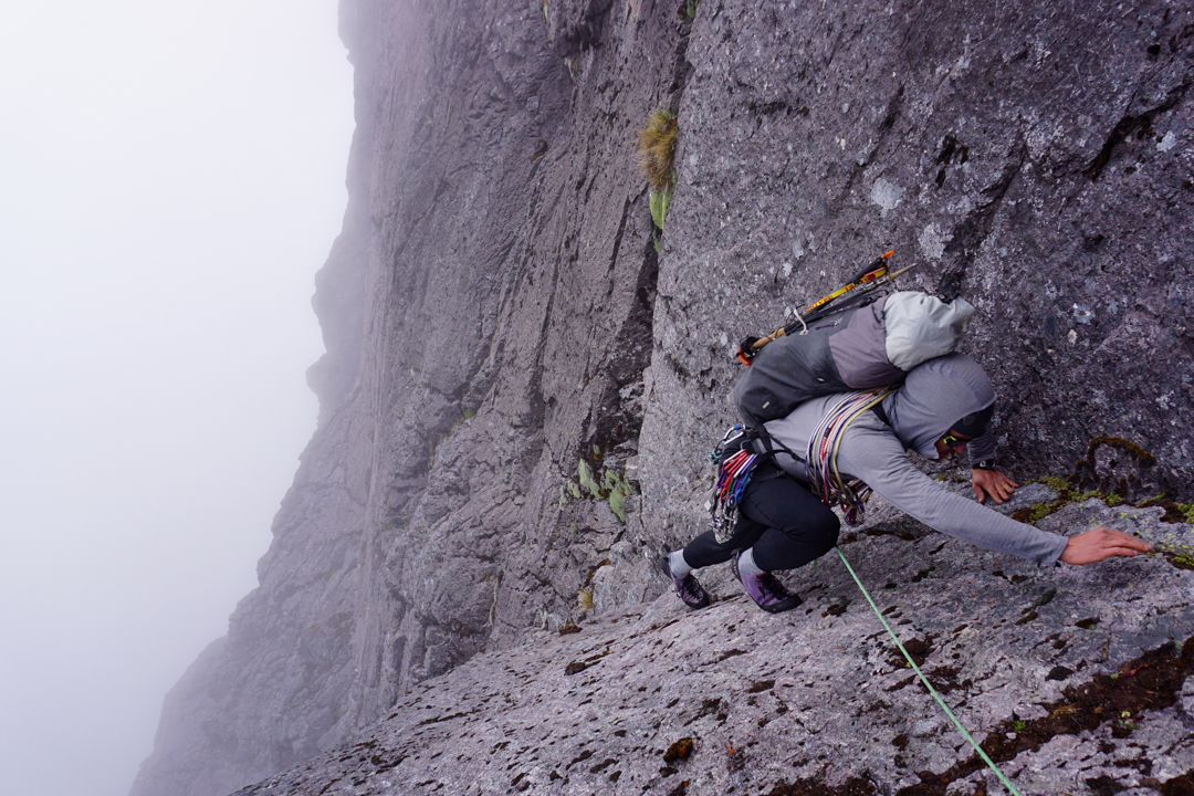 Aaron Zimmerman reaches the top of the second pitch of Peachy Corner.