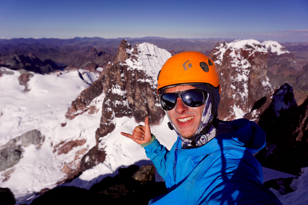Derek Field's on the summit of Recce Peak.
