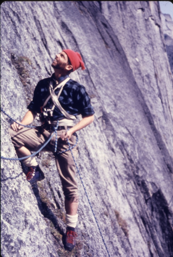 During the 1963 first ascent of the southeast face of Proboscis.