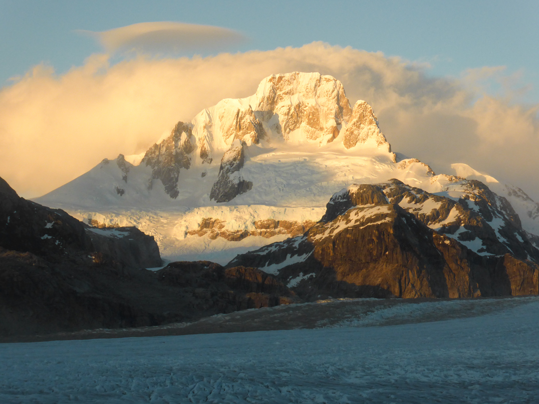 Cerro Cachet from the east side of the Nef Glacier.