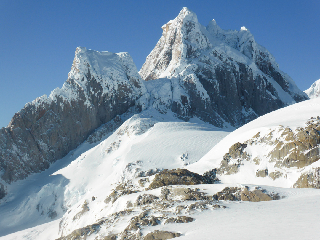 A close-up view of Cerro Cachet from the north.