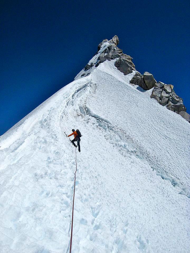 Ascending the northeast ridge of Nevado Pariacaca Sur.
