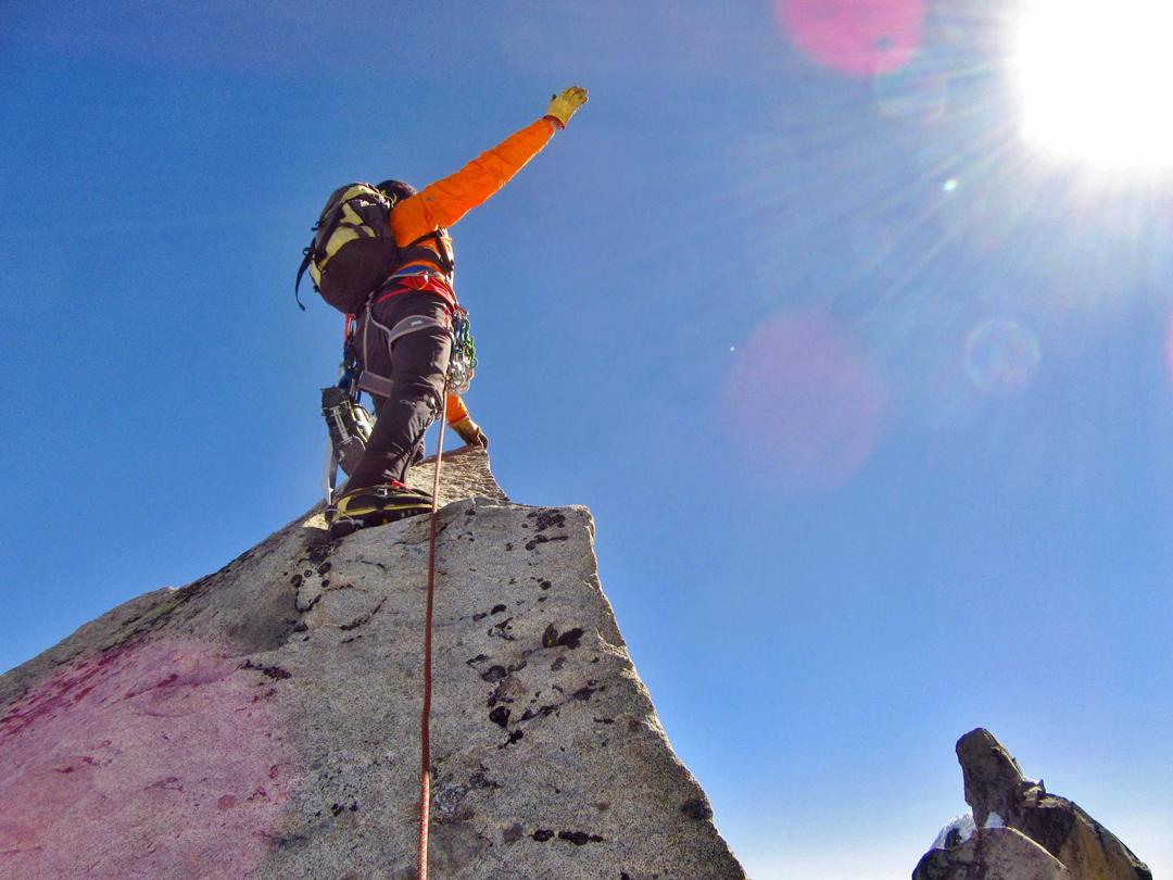 On the summit of Nevado Pariacaca Sur.