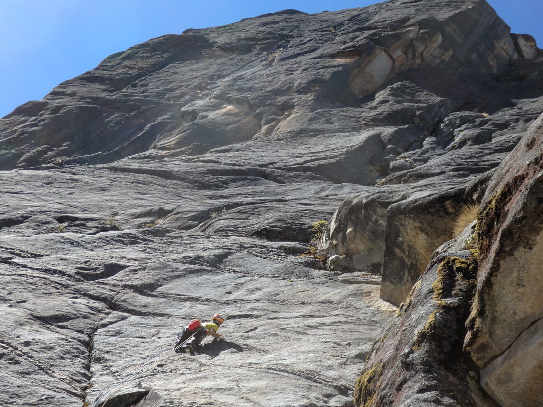 Leading a slab on Zerain.