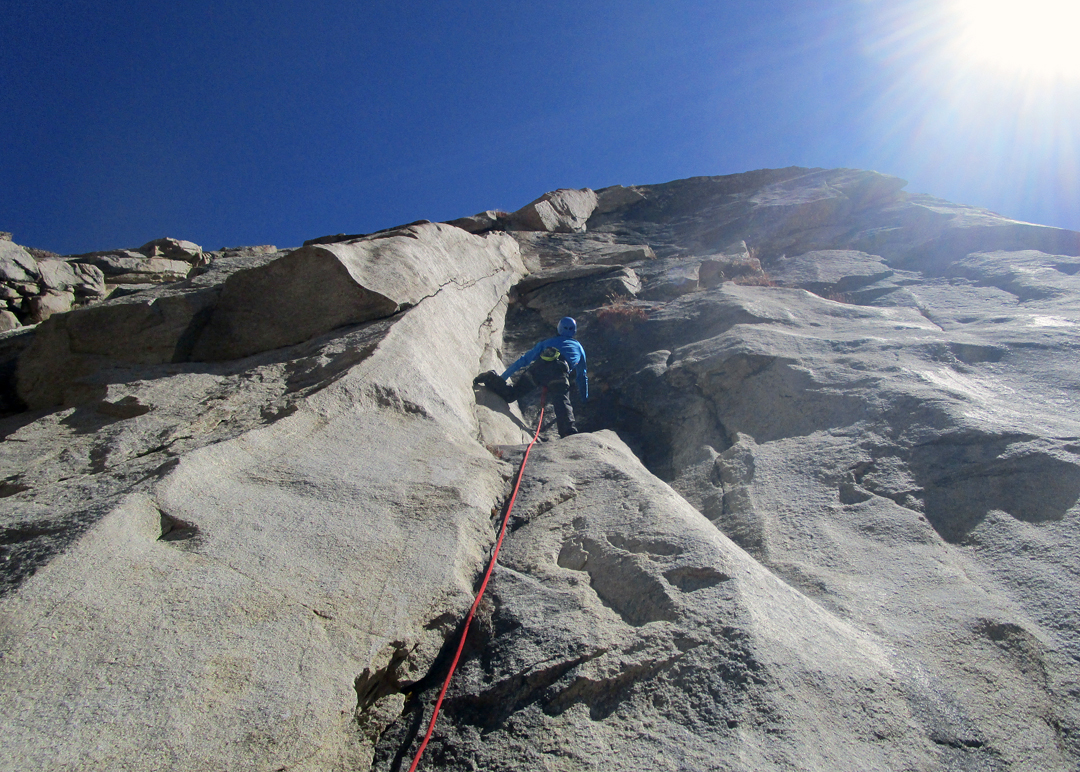 Spandan Sanyal on a run-out pitch (VI+) on Mahalaya in the Lalung Valley.