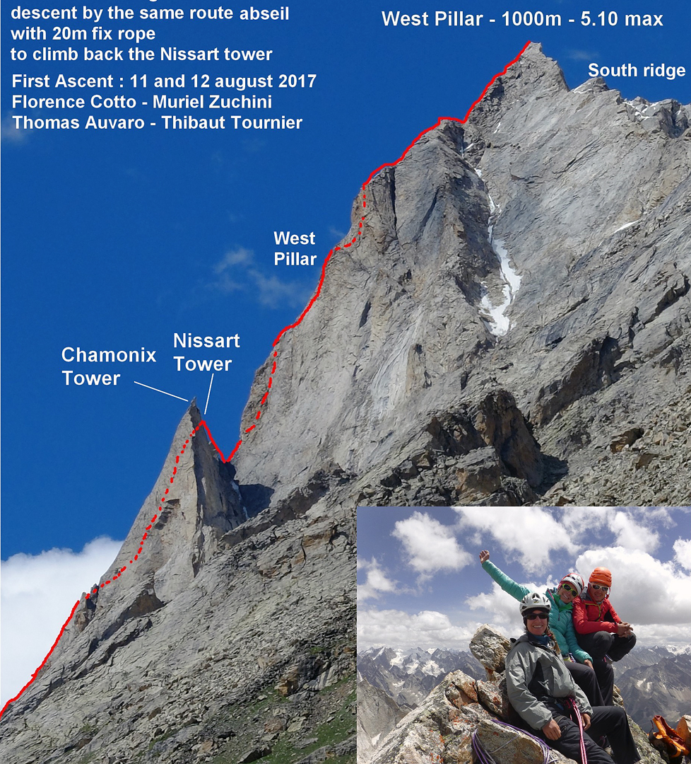 The 1,000m west buttress of the west summit (dubbed Miyar Shivling) of Marikula Killa, climbed by Spicy Night (6a).