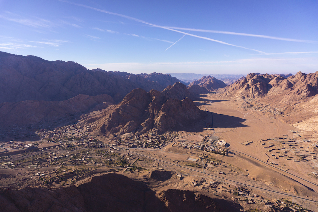 The village of St. Catherine in South Sinai.