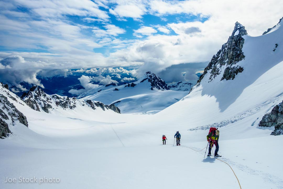 Climbing in the Double Glacier area of Alaska's Chigmit Mountains.