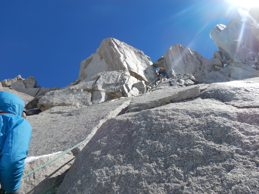 Felipe Cancino climbing during the first ascent of Pantagruel.