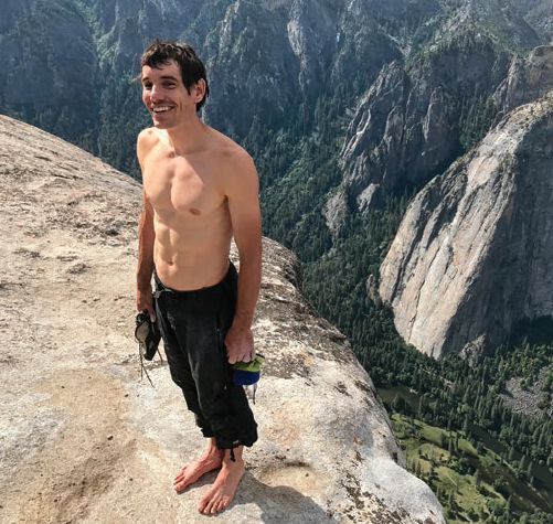 """Safely on the summit, a little under four hours after starting. """"Honestly, I feel like I could go do another lap right now,"""" Honnold told National Geographic later that day."""