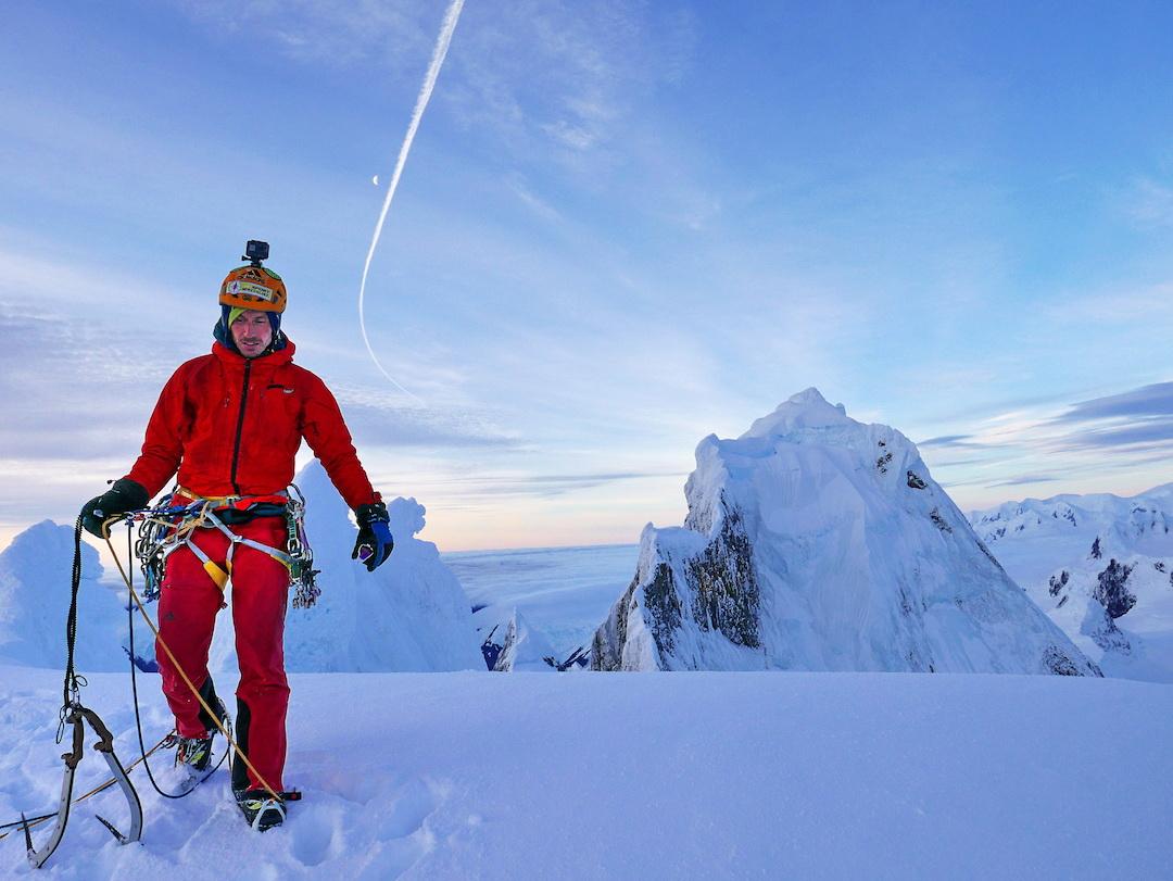 On the summit of Cerro Riso Patrón Sur, looking northward toward the main summit.