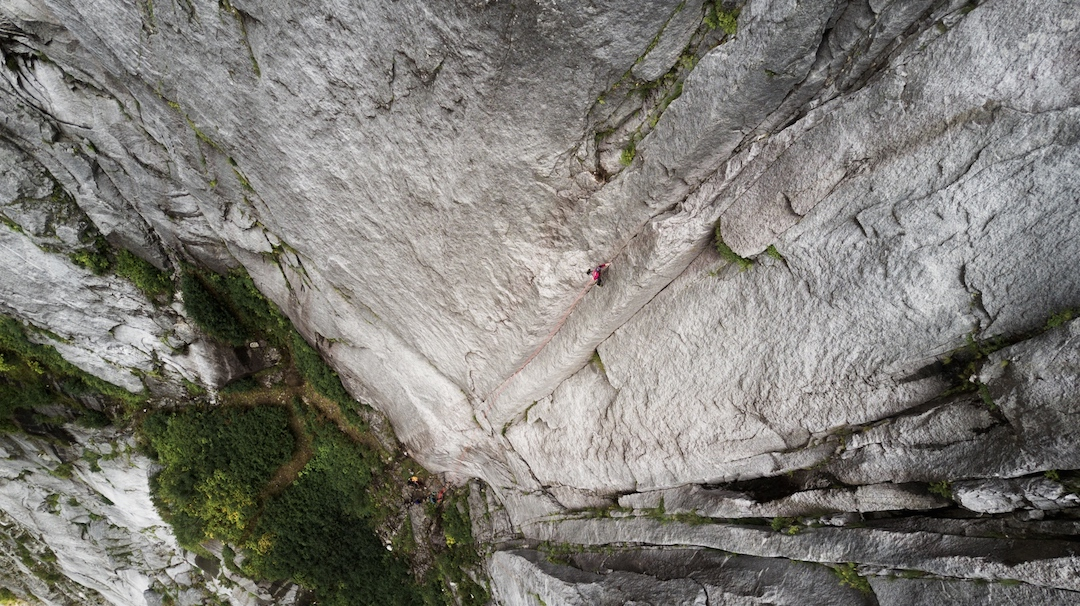 Evan Guilbault returned to the Daniels after the first ascent to free the 10th pitch of Sacred Stone, an amazing 5.11b finger crack.