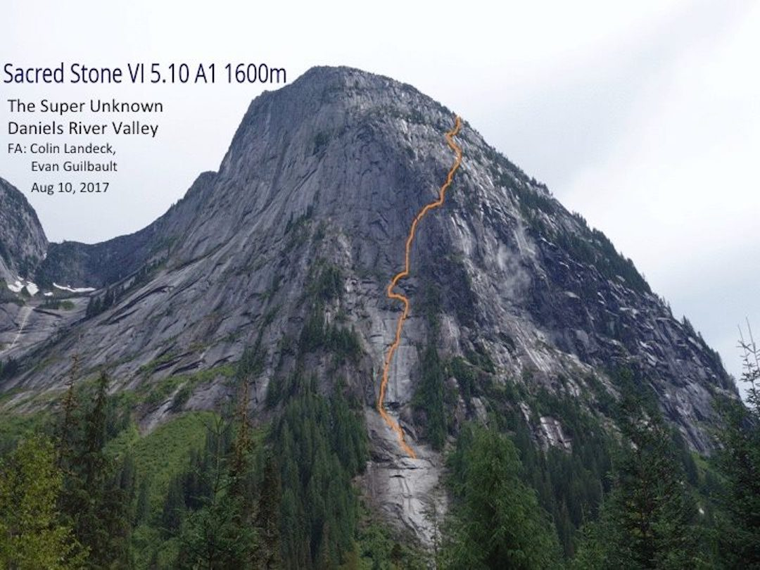 The route line for Sacred Stone on the Super Unknown formation.