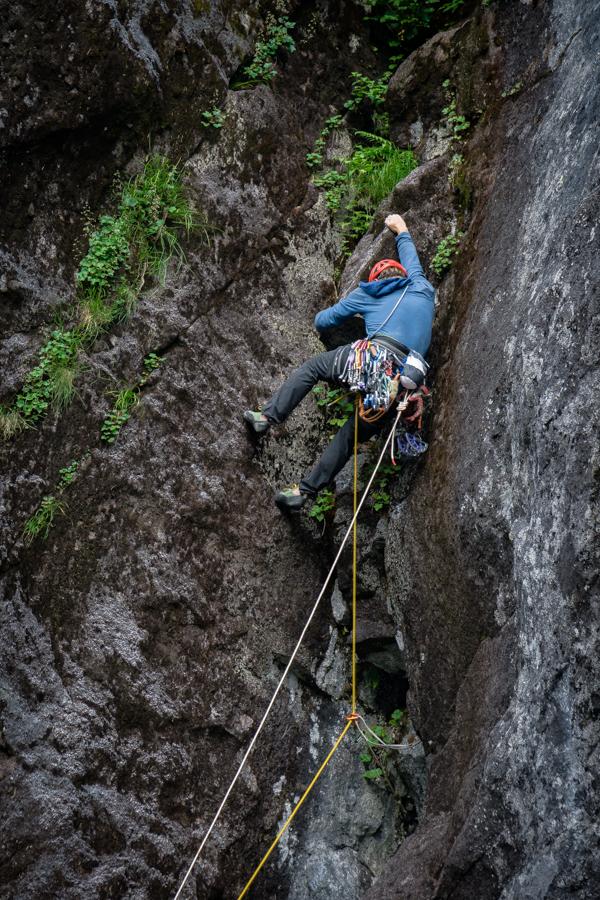 "Chris Kalman exploring new ground in the ""Dark Valley."""