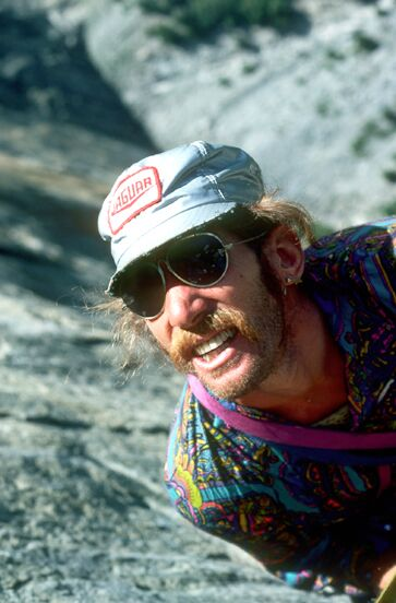 Jim Bridwell during the first ascent of Sea of Dreams on El Capitan.