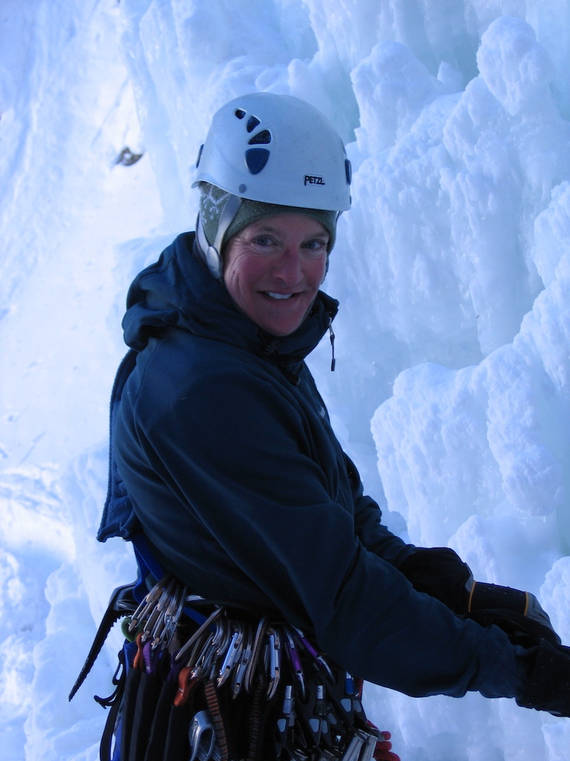 Charlotte Fox climbing in East Vail, Colorado.