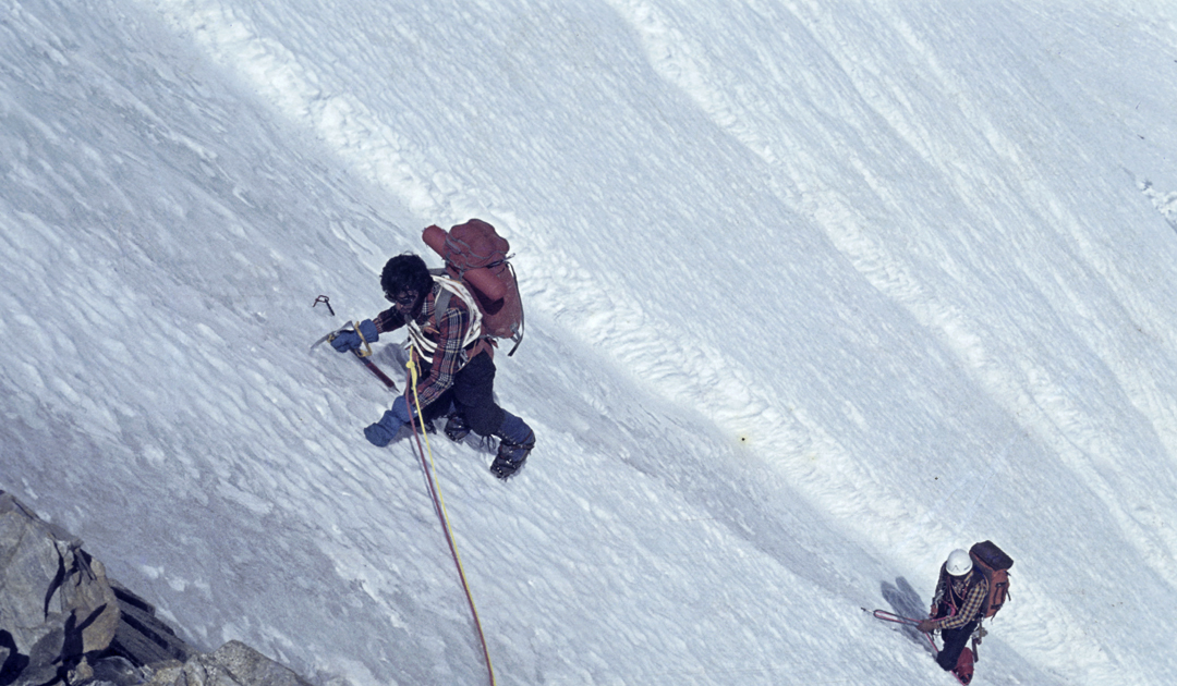 During the first ascent of Illampu's west face in 1978 by a four-man Spanish team.