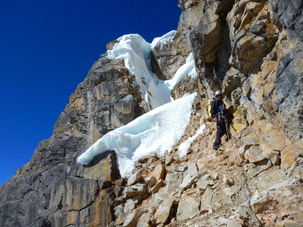 The nature of high-altitude rock climbing, high on Jurau A.