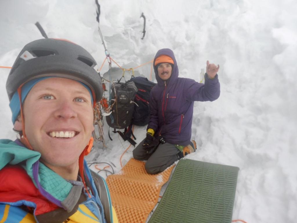The ice cave bivy on Jurau B.