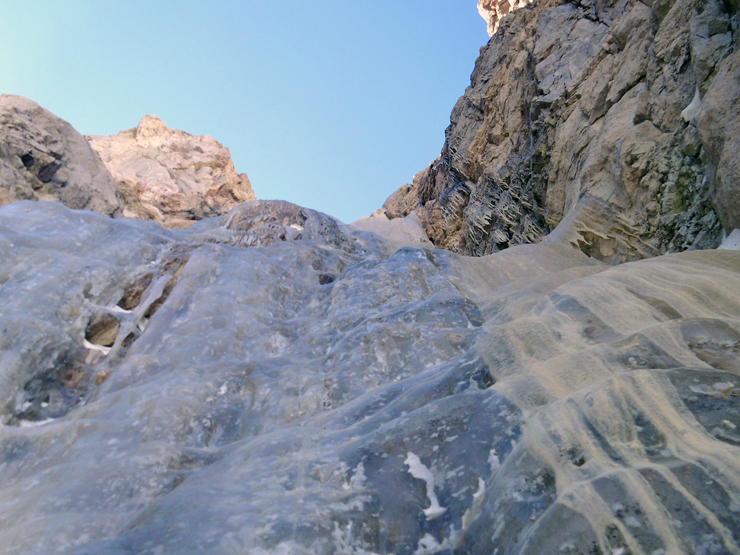The black water ice of Days to Remember on the west face of Sajama.