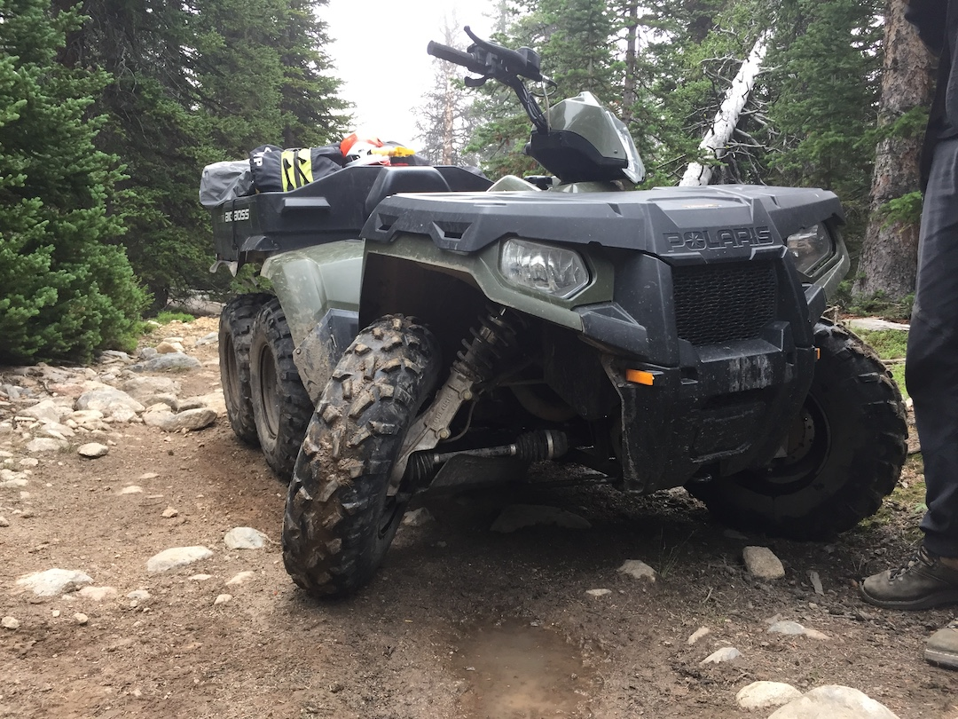 The ill-fated ATV used by Arno Ilgner and Jeff Lodas to approach Cloud Peak in 2017. A broken axle cost the team two days of the trip.