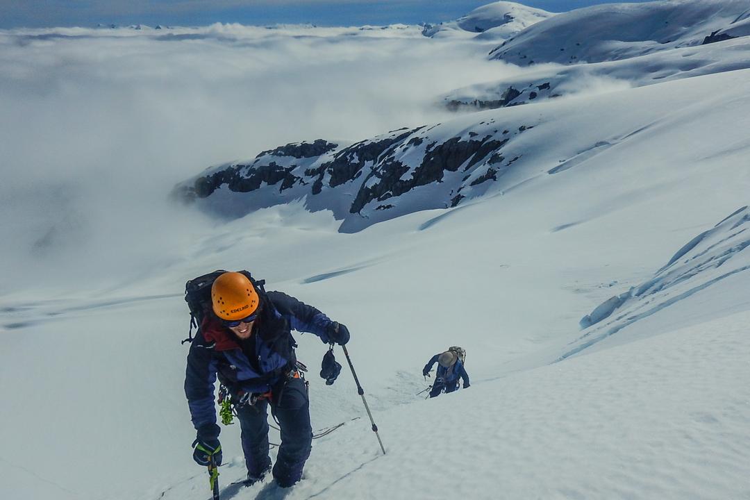 Climbing toward Cerro Teresa.