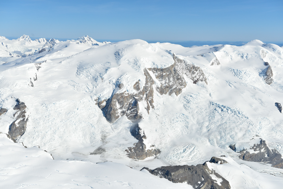The south face of Cerro Stoppani as seen from the air.