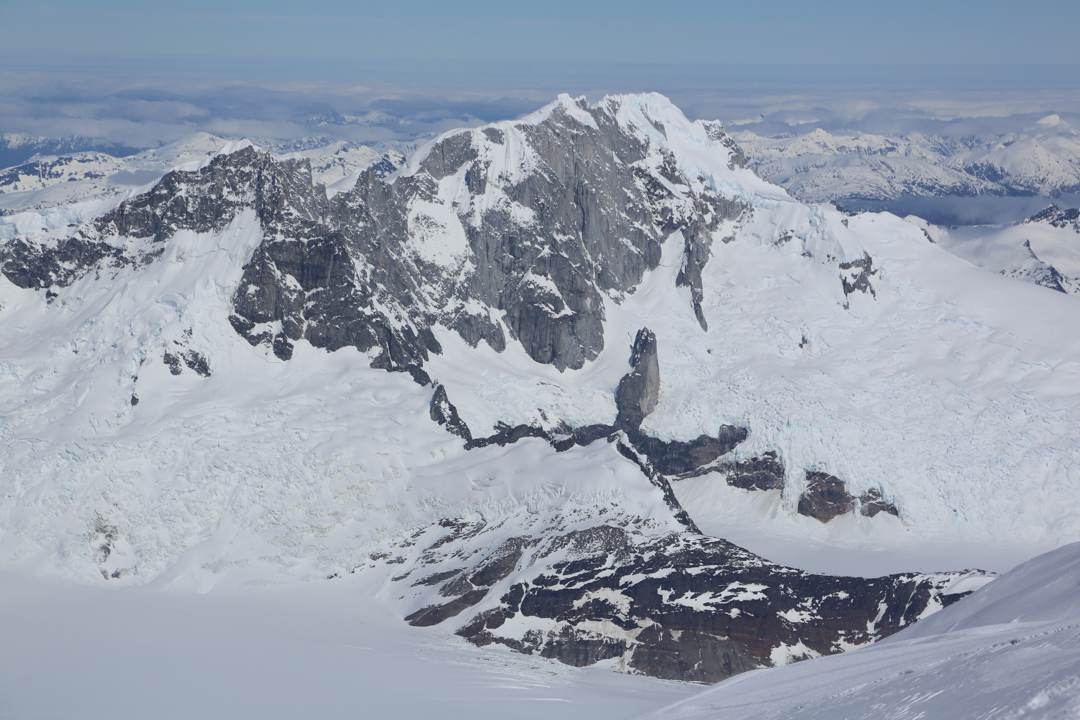 The north face of Cerro Italia (2,062m). This face has no ascents.