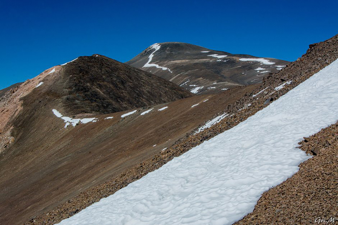 The foot of Cerro Overo.