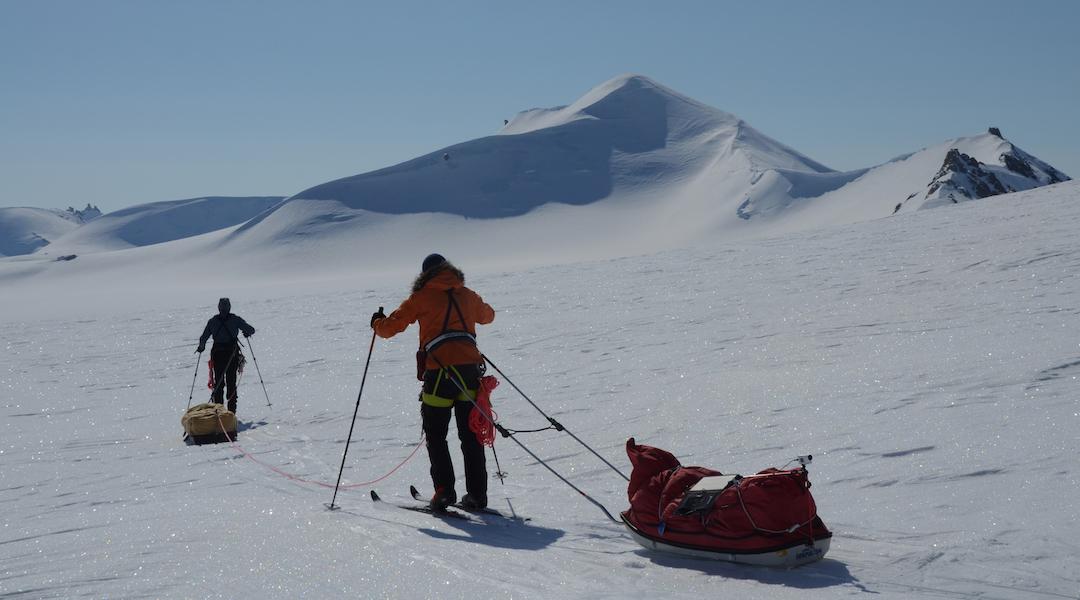 Skiing below Baird's Peak.