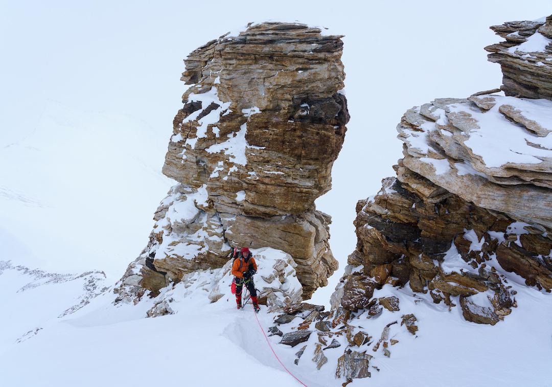 Climbing on the east ridge of Garnet Peak.