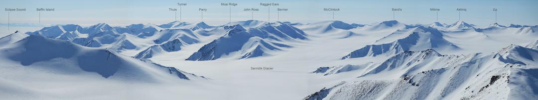 Explorer's Ridge panorama from Peak 1,792m.