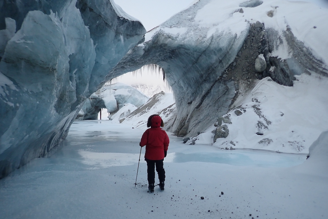Ice arches of the Kaparoqtalik Glacier.