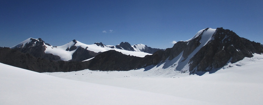 Looking east across the upper Fox Glacier.