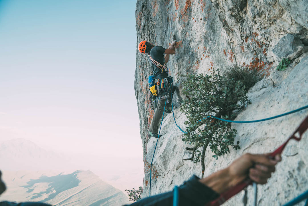 Tony McLane on Super Blood Wolf, a new route on La Popa.