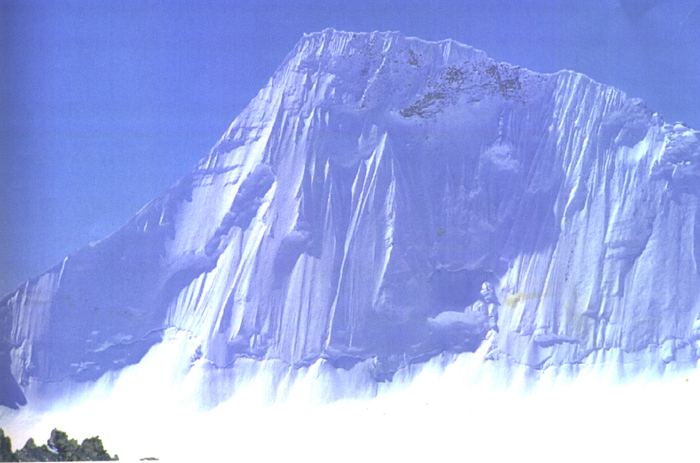 Lalung Kangri (6,623m) from Tibet to the north.