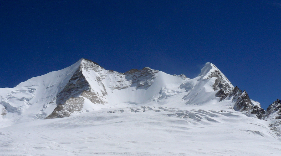 Koji Kang North (6,275m, left center) from the Koji La.