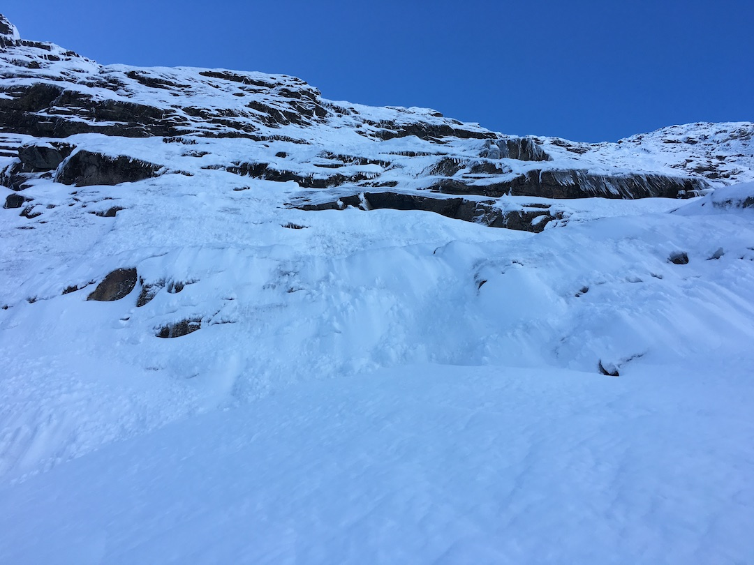 Looking up at the south face of Mt. Suter.