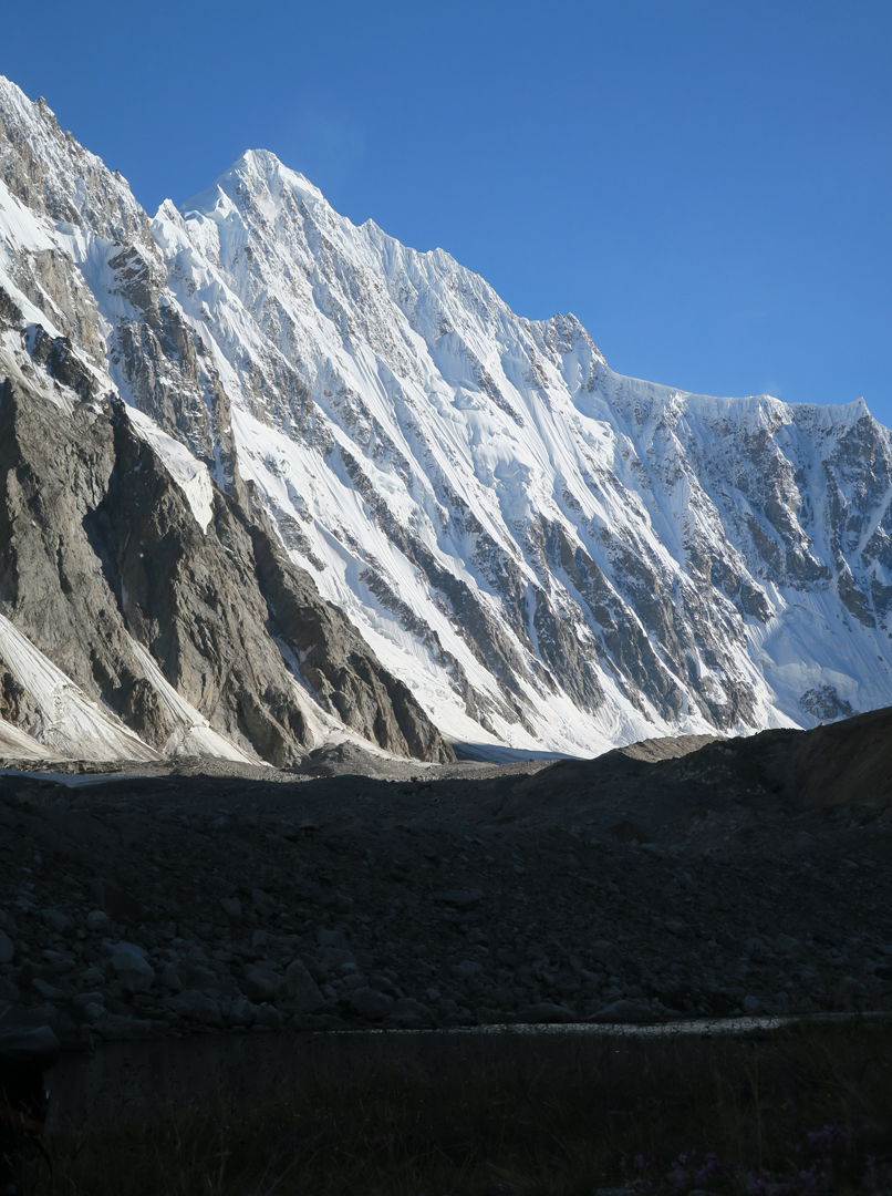 Unclimbed Peak 6,315m above the southwest bank of the First West Virjerab Glacier.