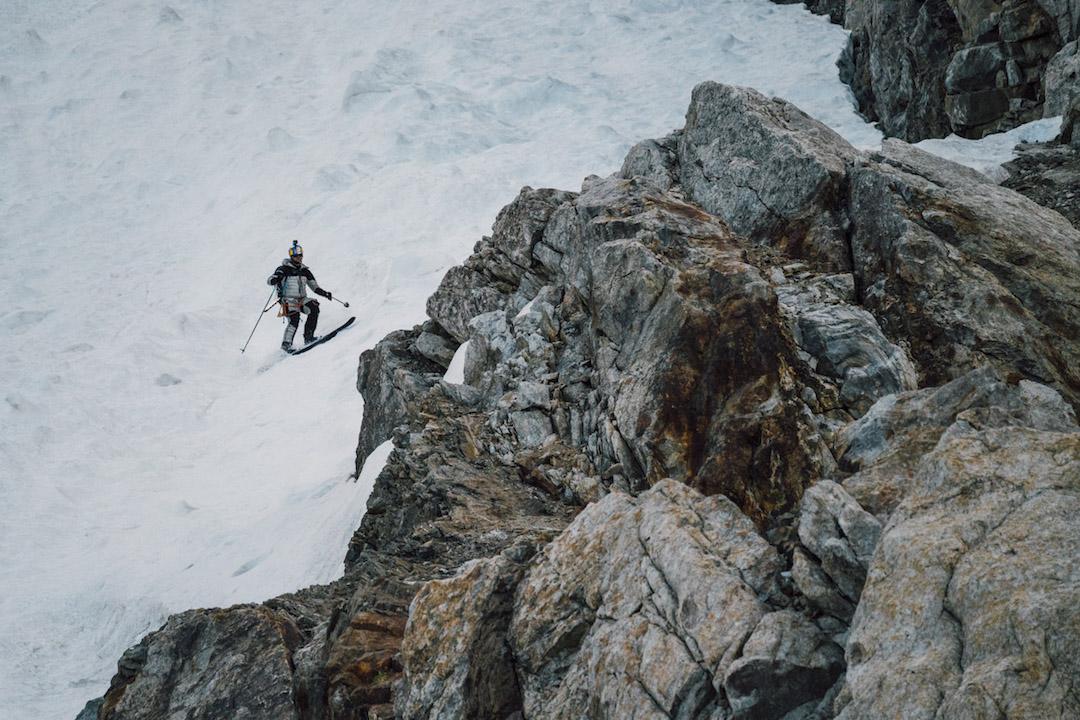 Bargiel nearing the bottom of K2.