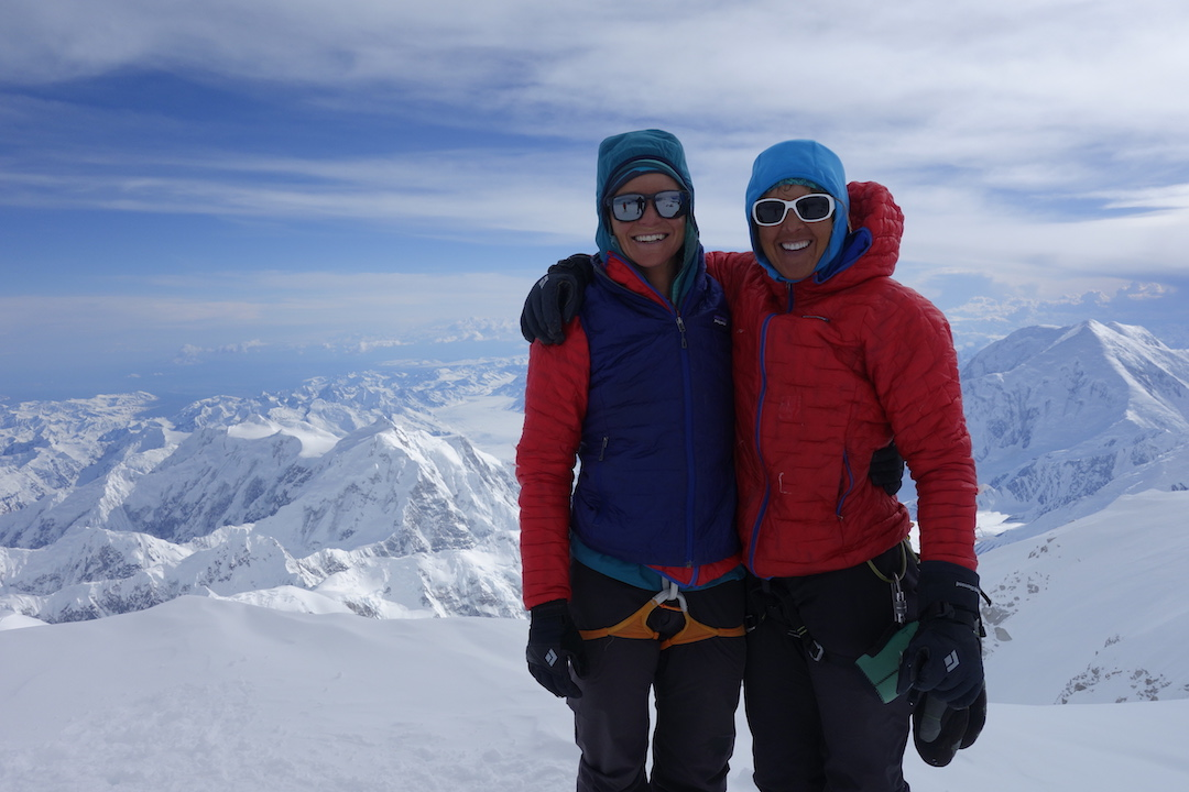 Anne Gilbert Chase (left) and Chantel Astorga after completing the Slovak Direct to Denali's summit.