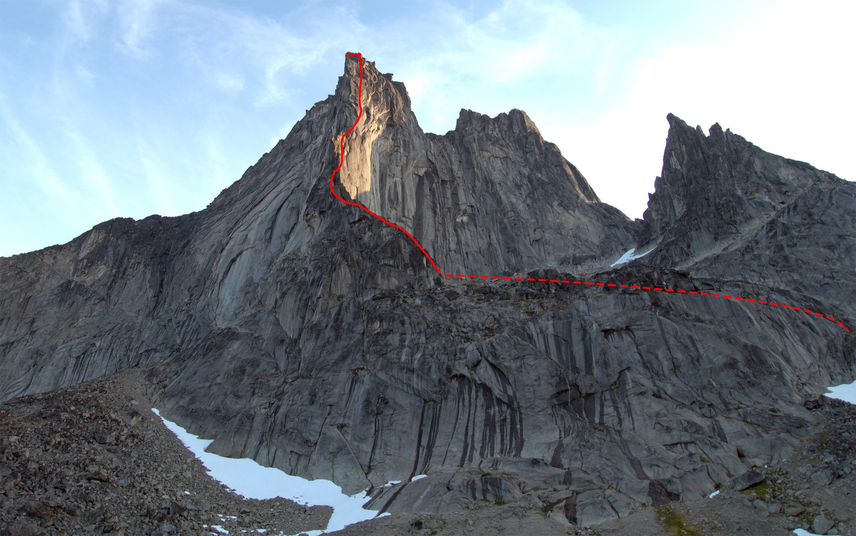 Ægir on Peak 1,303m, Torssukatak Fjord.