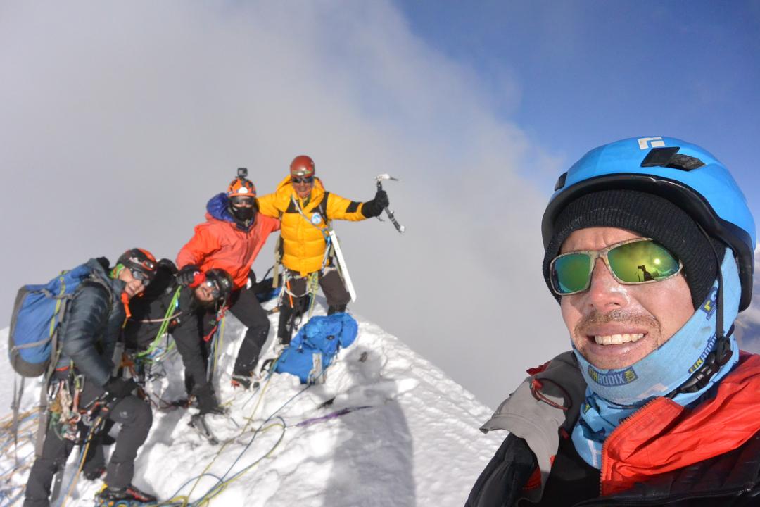 The team on the summit of Siulá Grande.