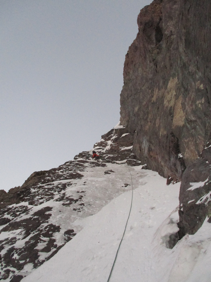 Thin ice and mixed ground on Nevado Surimani (5,420m), south face (400m, D).