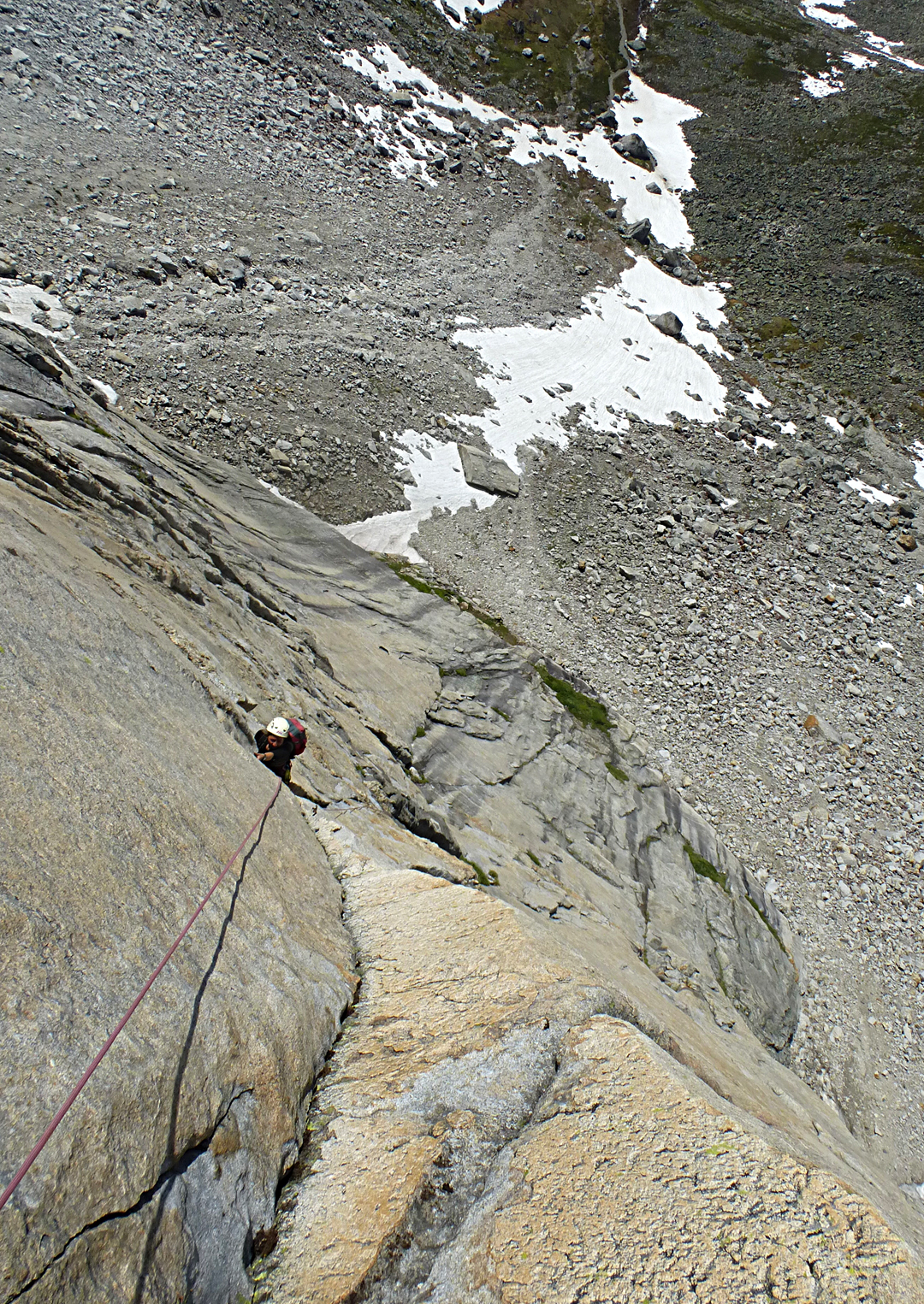 Evgenia Leontyeva follows on the first ascent of The Choice is Yours, west face of Pik Kart.